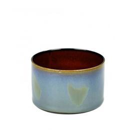 Beker cylinder laag Smokey Blue & Rust - Serax / Anita Le Grelle