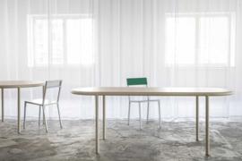 Wooden table oval ivory - Muller Van Severen / Valerie Objects