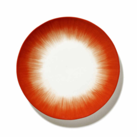 Servies Dé - Bord 24 cm Off-White/Red var 5 - Ann Demeulemeester Serax