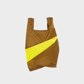 Shoppingbag M 'make & fluo yellow' - Susan Bijl