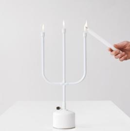 Flames Kandelaar 'Kaarsen op gas' - Droog