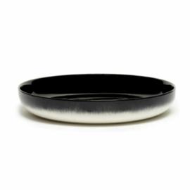 Servies Dé - Diep bord 24 cm Off-White/Black var B - Ann Demeulemeester Serax