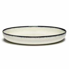 Servies Dé - Diep bord 27 cm Off-White/Black var A - Ann Demeulemeester Serax