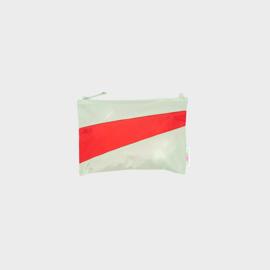 The New Pouch M 'pistachio & redlight' - Susan Bijl