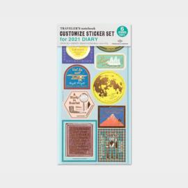2021 Diary Customize Sticker set - Traveler's Company