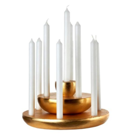 Candle holder discus brass / Kandelaar - Pols Potten