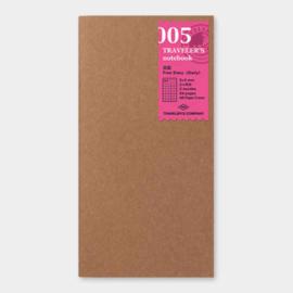 Refill 005 free diary voor Traveler's Notebook - Traveler's Company