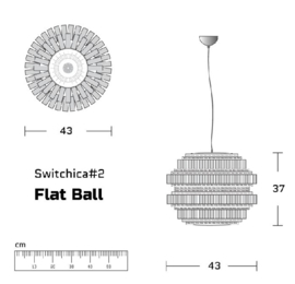 Hanglamp 'Flat Ball' - Re4mers