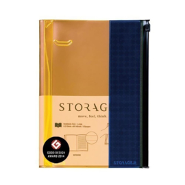 Notitieboek / Notebook L Orange-Blue - Mark's Inc.