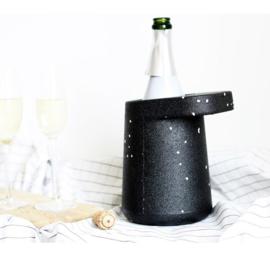 Hat Wijnkoeler zwart met spikkels - Puik