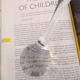 Vergrootglas / Loep uit een stuk glas - Arnout Visser