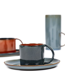 Espresso kopje 8,5 CL Dark Blue & Rust - Serax / Anita Le Grelle