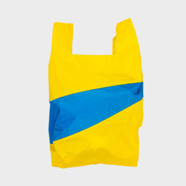 Shoppingbag L 'TV yellow & blueback' - Susan Bijl