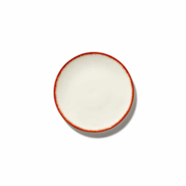 Servies Dé - Schoteltje / bordje 14 cm Off-White/Red var 2 - Ann Demeulemeester Serax