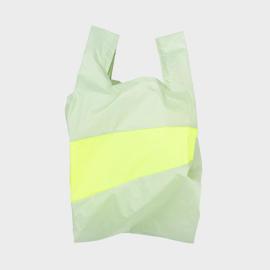 Shoppingbag L 'pistachio & fluo yellow' - Susan Bijl