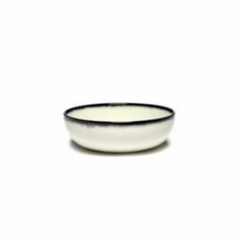 Servies Dé - Kom / Diep bordje 13 cm Off-White/Black var A - Ann Demeulemeester Serax