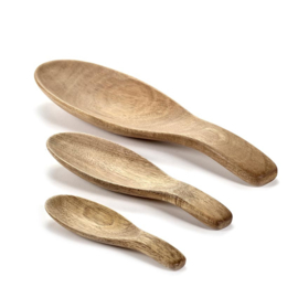 Ovale houten (opschep)lepels - Serax / Bea Mombaers