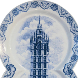 Multidish Triple - Hollands Delfts blauw van het Italiaanse Seletti