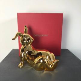 Gouden konijn spaarpot / Moneybox Bunny gold - Pols Potten