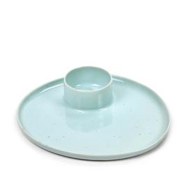 Ontbijtbord met eierdop Light Blue - Serax / Anita Le Grelle
