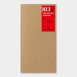 Refill 003 blanko voor Traveler's Notebook - Traveler's Company