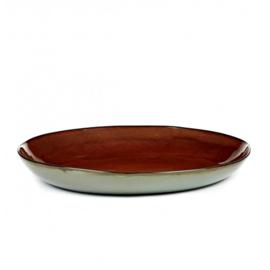 Serveerschaal 35,5 cm Rust & Smokey Blue - Serax / Anita Le Grelle