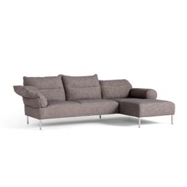 Pandarine 3 zitsbank (263 cm) chaise longue - Verstelbare armleuningen - Inga Sempé / HAY
