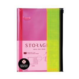 Notitieboek / Notebook L Pink-Yellow - Mark's Inc.