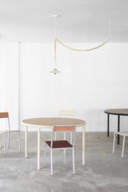 Wooden table round red - Muller Van Severen / Valerie Objects