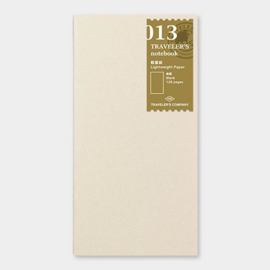 Refill 013 Light paper / dun papier voor Traveler's Notebook - Traveler's Company
