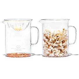Borosilicate glass Popcorn / Popcorn maken in magnetron - Puebco