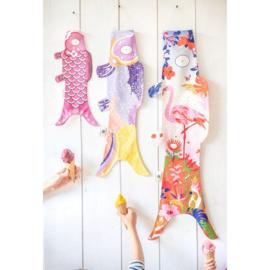 Koinobori Japanse vis vlag 'Kimono Boy' 70 cm - Madame Mo
