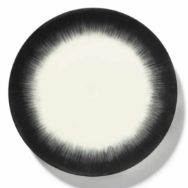 Servies Dé - Bord 28 cm Off-White/Black var 5 - Ann Demeulemeester Serax