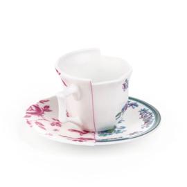 Hybrid servies - Koffiekop & schotel 'Leonia' - Seletti