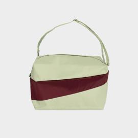 The 24/7 Bag weekendtas 'pistachio & burgundy' - Susan Bijl