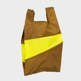 Shoppingbag L 'make & fluo yellow' - Susan Bijl