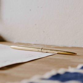 Gouden pen 'bullet' - HAY