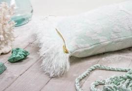 Kussen 'Fringe' N°7 Soft Mint - Roos Soetekouw