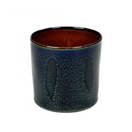 Beker cylinder hoog Dark Blue & Rust - Serax / Anita Le Grelle