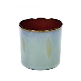 Beker cylinder hoog Smokey Blue & Rust - Serax / Anita Le Grelle