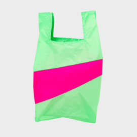 Shoppingbag L 'error & pretty pink' - Susan Bijl