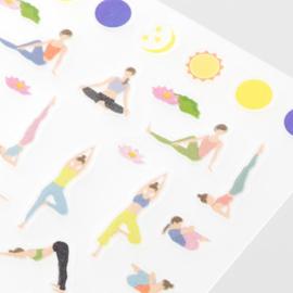 Yoga stickers voor Traveler's Notebook - Traveler's Company