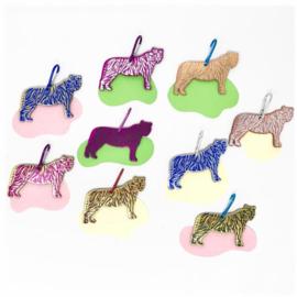 Tiger bag tags / Tijger taslabels van leer - Ark Colour design