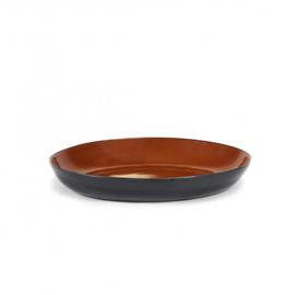 Ovale Serveerschaal 38 cm Rust & Dark Blue - Serax / Anita Le Grelle