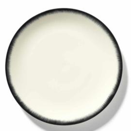 Servies Dé - Bord 28 cm Off-White/Black var 3 - Ann Demeulemeester Serax