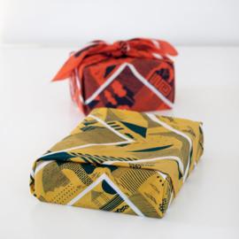 Furoshiki 90 x 90 cm 'Folded Paper' Pink - Link