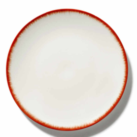 Servies Dé - Bord 28 cm Off-White/Red var 2 - Ann Demeulemeester Serax