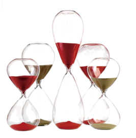 Sandglass ball / Zandloper rood L - Pols Potten