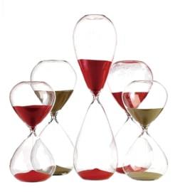 Sandglass ball / Zandloper rood L - Pols Potten