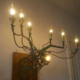 Lamp van Meccano 'Reindeer' - Oom Jan